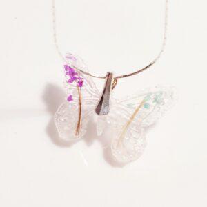 Pandantiv fluture cu lapte matern și șuvițe