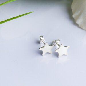 Cercei steluțe personalizați cu lapte matern