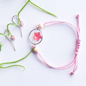 Set brățară și cercei personalizate cu inserții din cordon ombilical