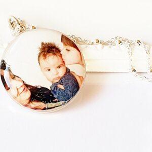 Lănțișor + pandantiv argint personalizat cu poză